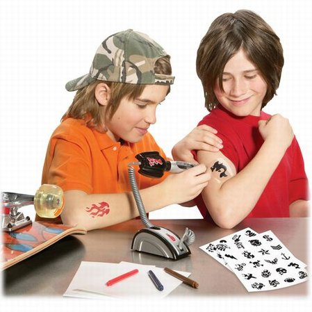 Open up your very own pretend play tattoo parlor.