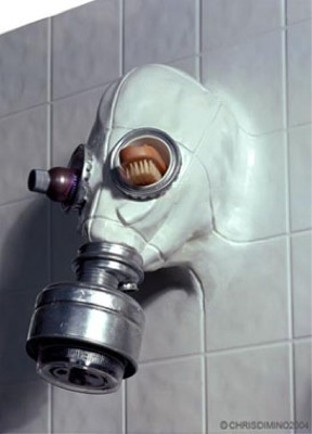 chris dimino gas mask shower head